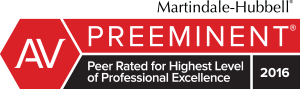 Martindale-Hubbell Preeminent 2016